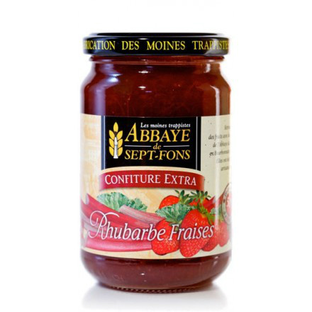 SF62 CONFITURE EXTRA RUHBARBE-FRAISES 370G